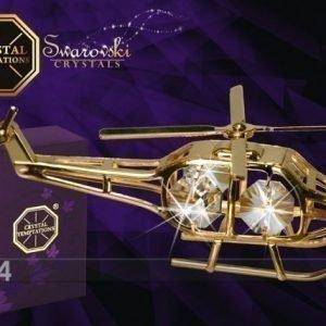 Mo Koriste Kullatuilla Swarovski Kristalleilla Helikopteri