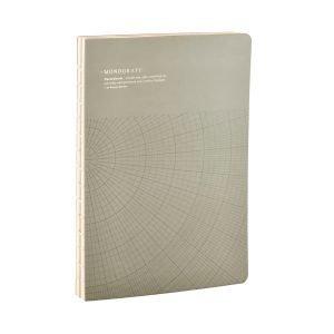 Monograph Geometric Muistiinpanokirja L Harmaa / Vihreä