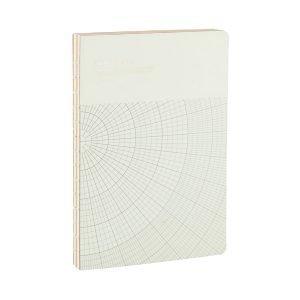 Monograph Geometric Muistiinpanokirja L Vaaleanharmaa