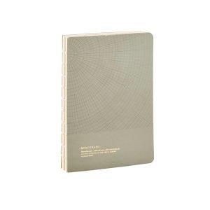 Monograph Geometric Muistiinpanokirja S Harmaa / Vihreä