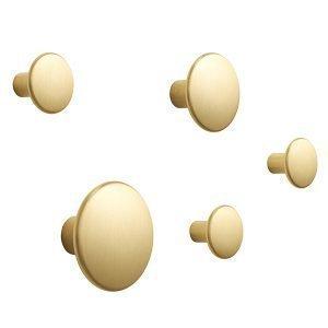 Muuto The Dots Metal Ripustimet Messinki 5 Kpl