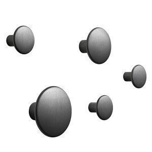 Muuto The Dots Metal Ripustimet Musta 5 Kpl