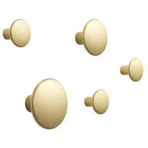 Muuto The Dots Metal Ripustin 5 Pack Messinki
