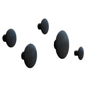 Muuto The Dots Ripustimet Musta 5 Kpl