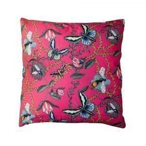Nadja Wedin Design Bugs & Butterflies Tyynynpäällinen Cerise 48x48 Cm