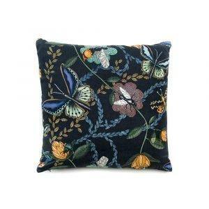 Nadja Wedin Design Bugs & Butterflies Tyynynpäällinen Musta 48x48 Cm