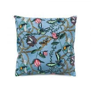 Nadja Wedin Design Bugs & Butterflies Tyynynpäällinen Sininen 48x48 Cm