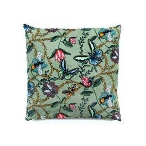 Nadja Wedin Design Bugs & Butterflies Tyynynpäällinen Vihreä 48x48 Cm