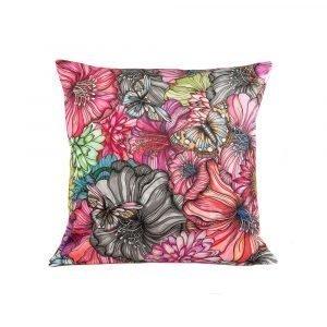 Nadja Wedin Design Flower Power Tyynynpäällinen Sametti Rose 48x48 Cm