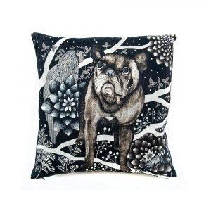 Nadja Wedin Design Franska Hunden Tyynynpäällinen 48x48 Cm