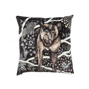 Nadja Wedin Design Franska Hunden Tyynynpäällinen Sametti 48x48 Cm