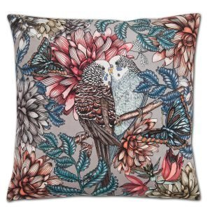 Nadja Wedin Design Lovebirds Tyynynpäällinen Sametti Harmaa 48x48 Cm