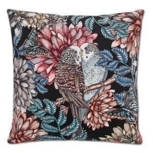 Nadja Wedin Design Lovebirds Tyynynpäällinen Sametti Musta 48x48 Cm