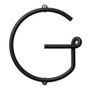 Naknak Wire Alphabet G Kirjain Musta