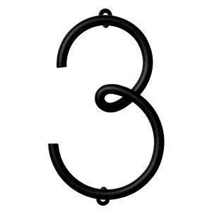 Naknak Wire Number 3 Numero Valkoinen