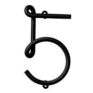 Naknak Wire Number 5 Numero Valkoinen
