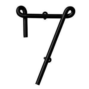 Naknak Wire Number 7 Numero Valkoinen