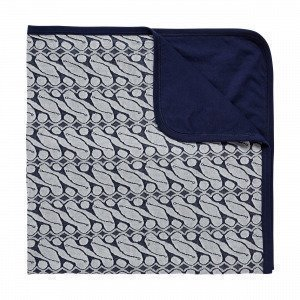 Navy Stories Jaquard Baby Blanket Viltti Mariininsininen 80x104 Cm