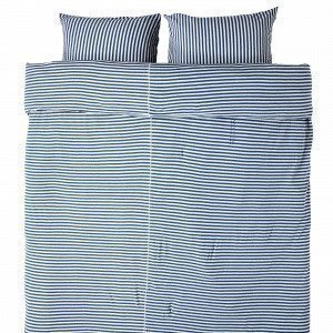 Navy Stories Kingsize Stripe Pussilakanasetti Mariininsininen 220x220 Cm