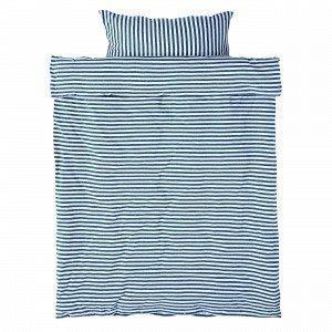 Navy Stories Stripe Baby Bedset Pussilakanasetti Vauvoille Mariininsininen 100x130 Cm