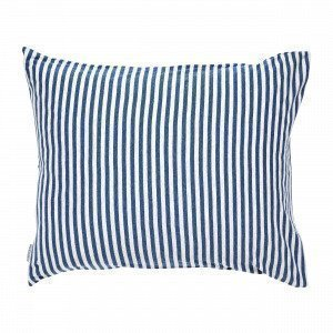 Navy Stories Stripe Pillow Case Tyynyliina Mariininsininen 50x60 Cm