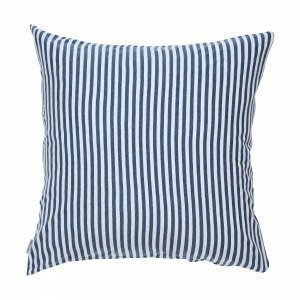 Navy Stories Stripe Pillow Case Tyynyliina Mariininsininen 65x65 Cm