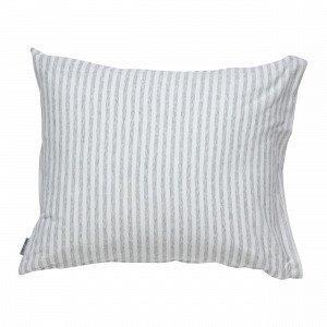 Navy Stories Stripe Pillow Case Tyynyliina Valkoinen 50x60 Cm