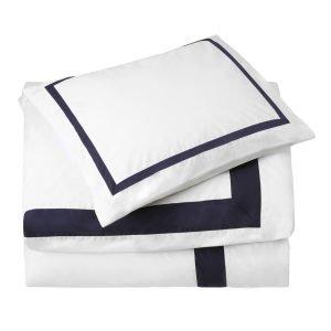 Newport Mayfair Pussilakana Valkoinen / Sininen 220x220 Cm