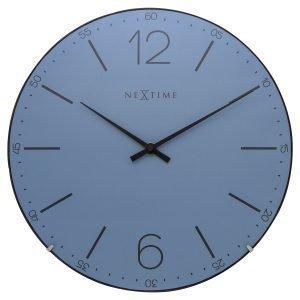 Nextime Index Dome Seinäkello Sininen