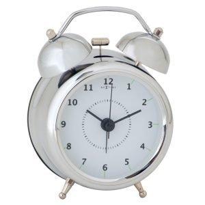 Nextime Wake Up 9 Herätyskello Hopea