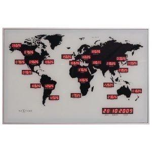 Nextime World Time Digit Seinäkello