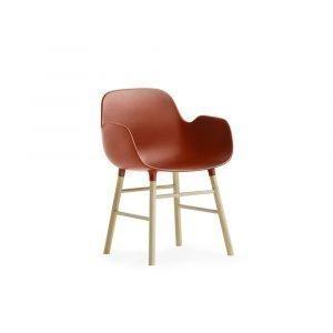 Normann Copenhagen Form Miniature Käsinojallinen Tuoli Punainen
