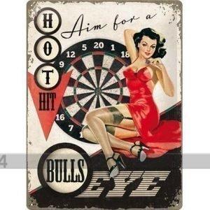 Nostalgic Art Retro Metallijuliste Aim For A Bulls Eye 30x40 Cm