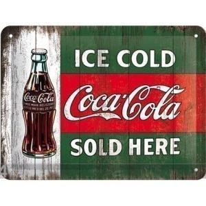 Nostalgic Art Retro Metallijuliste Coca-Cola Ice Cold Sold Here 15x20cm