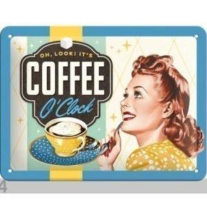 Nostalgic Art Retro Metallijuliste Coffee O´Clock 15x20 Cm