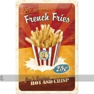 Nostalgic Art Retro Metallijuliste French Fries 20x30 Cm
