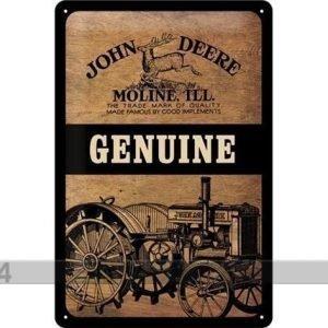 Nostalgic Art Retro Metallijuliste John Deere Genuine 20x30 Cm