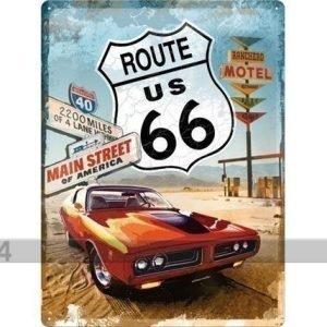 Nostalgic Art Retro Metallijuliste Route 66 Gas Up 30x40 Cm