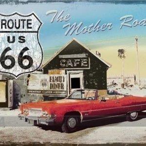 Nostalgic Art Retro Metallijuliste Route 66 The Mother Road