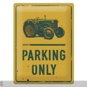 Nostalgic Art Retro Metallijuliste Tractor Parking Only 30x40 Cm