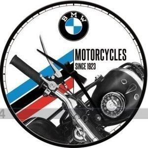 Nostalgic Art Retro Seinäkello Bmw Motorcycles Since 1923