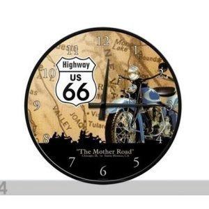 Nostalgic Art Retro Seinäkello Route 66
