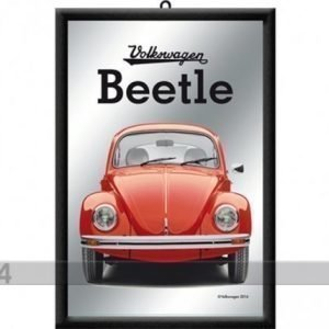 Nostalgic Art Retrotyylinen Mainospeili Vw Beetle Punainen