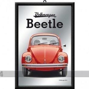 Nostalgic Art Retrotyylinen Mainospeili Vw Beetle Punainen