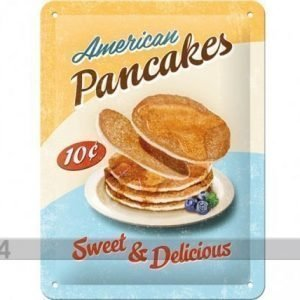 Nostalgic Art Retrotyylinen Metallijuliste American Pancakes 15x20 Cm