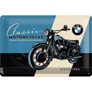 Nostalgic Art Retrotyylinen Metallijuliste Bmw Classic Motorcycles 20x30 Cm