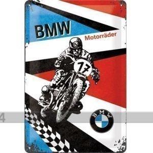 Nostalgic Art Retrotyylinen Metallijuliste Bmw MotorrÄder 20x30 Cm
