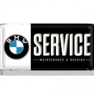 Nostalgic Art Retrotyylinen Metallijuliste Bmw Service 25x50 Cm