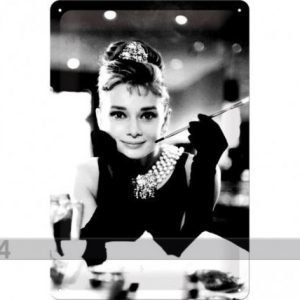 Nostalgic Art Retrotyylinen Metallijuliste Breakfast At Tiffany´S Audrey