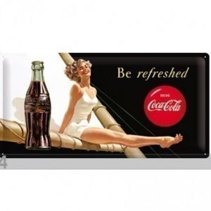 Nostalgic Art Retrotyylinen Metallijuliste Coca-Coal Be Refreshed 25x50 Cm